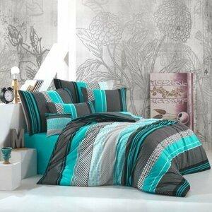 BedTex Bavlnené obliečky Zigo tyrkysová, 140 x 200 cm, 70 x 90 cm