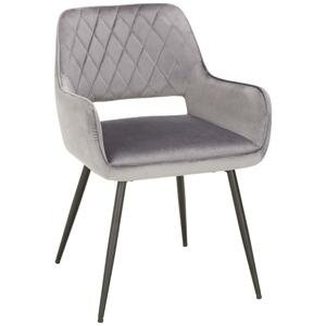 stolička serafina sivá