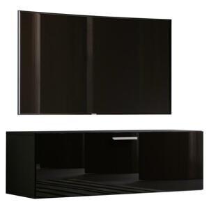 Tv - skrinka Fernso Š: 115 Cm Čierna Vysoký Lesk