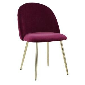Jedálenská stolička Artdeco Bordová