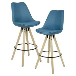 Barová Stolička Barhocker 2ks Modrá