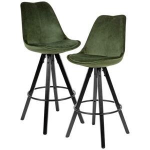 Barová Stolička 2ks Zelená