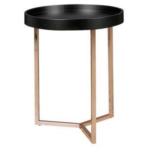 Príručný stolík Wl5.238 Čierny/medený