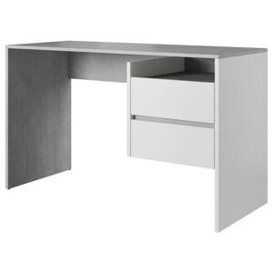 Písací Stôl Paco 3 Biela/dekor Beton