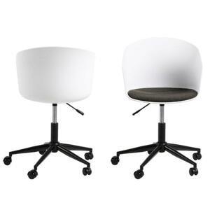 Otočná kancelárska stolička Moon Biela