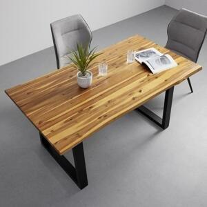 Jedálenský Stôl Z Akácie Francesco 160x85 Cm Svetlý
