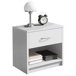 Nočný stolík Base Biela