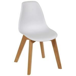 Detská stolička steve Biela