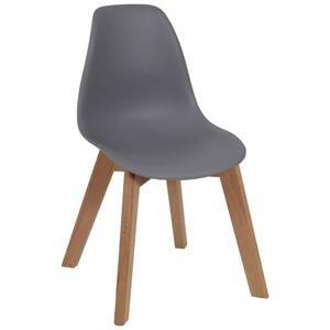 Detská stolička steve sivá