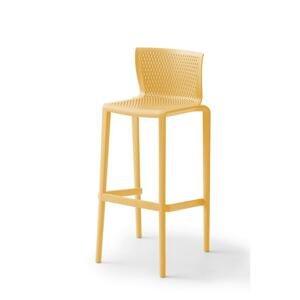 Barová stolička spiker Plast Horčicová