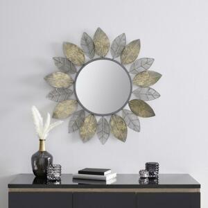 Zrkadlo V Listovom Dizajne Bella Strieborné A Zlaté