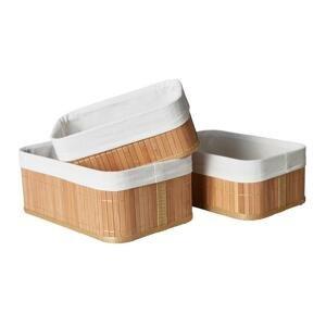 sada košíkov Bamboo, 3ks/bal.