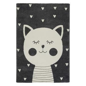 Detský koberec Cat 2, 100/150cm, Antracitová