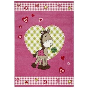 Detský koberec Pony, 120/170cm, Ružová