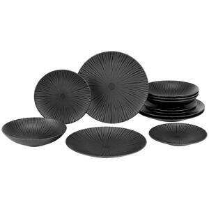 Jedálenský servis Black, 12-Dielny