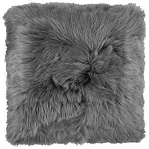 Kožušinový Vankúš Hunter, 45/45cm, Antracitová