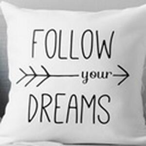 Dekoračný Vankúš Follow Your Dreams, 45/45cm