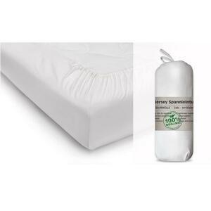 Napínacia Plachta Biela Bio Bavlna Jersey 70x140 Cm