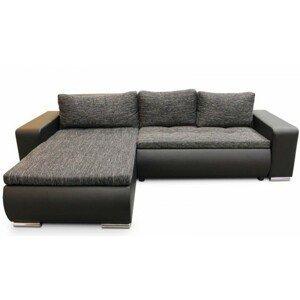 Rohová sedačka rozkladacia Enro univerzálny roh ÚP čierna, sivá