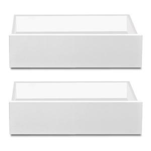 Linea - zásuvka 2ks, sada ku konferenčnému stolíku (biela)