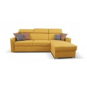 Rohová sedačka rozkladacia Meli pravý roh ÚP žltá
