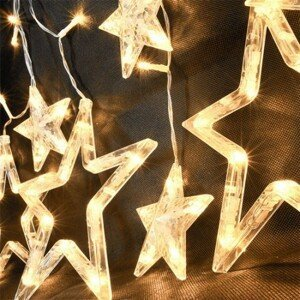 Vianočný záves Solight 1V227, LED, hviezdy, 1,8m