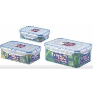 Dózy na potraviny Lock & Lock HPL825S, 3 ks, 2,3l / 1l / 360ml