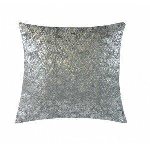 Vankúš DP153 (45x45 cm, tmavo sivá, strieborná)