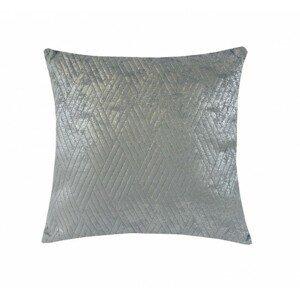 Vankúš DP152 (45x45 cm, svetlo sivá, strieborná)