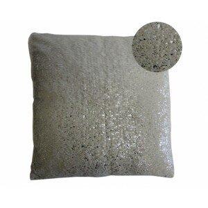 Vankúš DP122 (45x45 cm, sivá, strieborná)