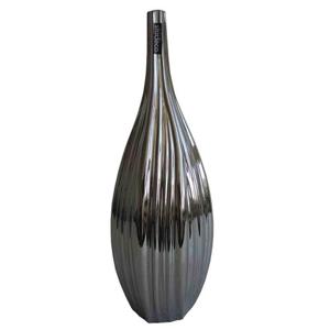 Keramická váza VK59 strieborná (45 cm)
