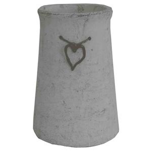 Cementová váza CV03 zo srdiečkom (25 cm)