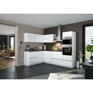 Rohová kuchyňa Eugenie pravý roh 260x180cm (biela vysoký lesk)