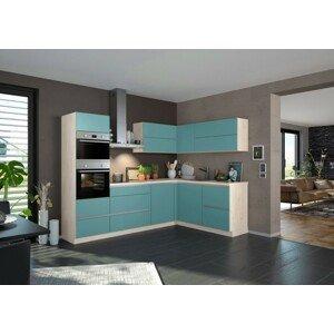 Rohová kuchyňa Eugenie ľavý roh 260x180cm (svetlozelená matná)