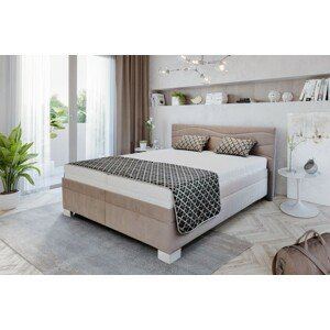 Čalúnená posteľ Windsor 200x200 vrátane pol.roštu, bez matracov