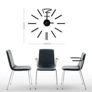 Nástenné hodiny - H20, 50 cm, čierna