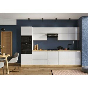 Kuchynská linka Lisse 320 cm (biela lesklá) - II. akosť