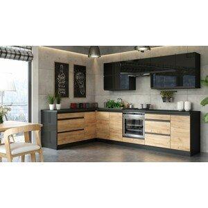 Rohová kuchyňa Brick ľavý roh 300x182 cm - II. akosť