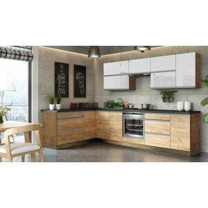 Rohová kuchyňa Brick light ľavý roh 300x182 cm - II. akosť