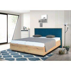Drevená posteľ Leticia 180x200, dub, vr. matracov, roštu a ÚP