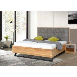 Masívna posteľ Leon 180x200, dub, vrátane matracov, roštu a ÚP
