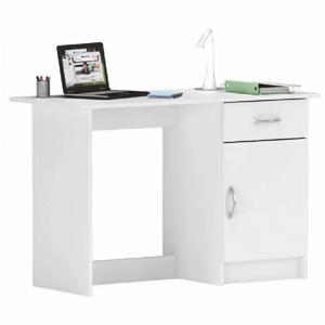 Univerzálny PC stôl, biela, SIRISS