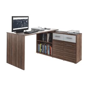 PC stolík, slivka/biela, RAFAEL NEW