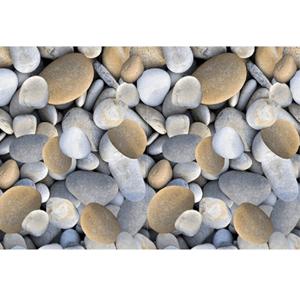 Koberec, viacfarebný, vzor kamene, 80x200, BESS