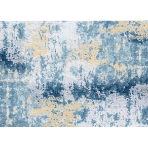 Koberec, modrá/sivá/žltá, 160x230, MARION TYP 1
