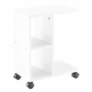 Príručný stolík, biela, ABBAS NEW