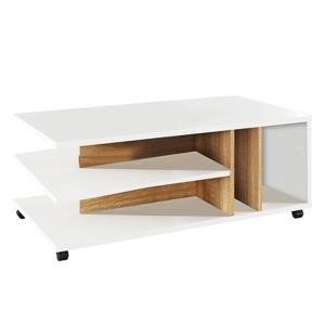Konferenčný stolík, biela/dub sonoma, DASTI