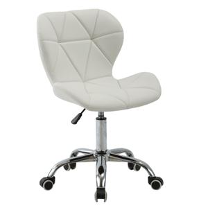 Kancelárske kreslo, biela/chróm, ARGUS