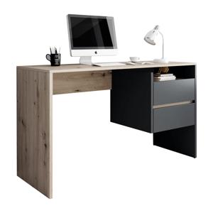PC stôl, dub artisan/grafit-antracit, TULIO