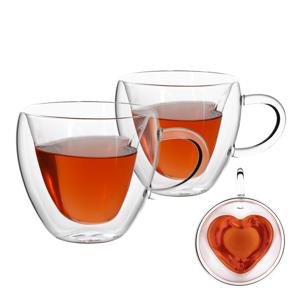 Termo pohár šálka Heart, 2ks, v tvare srdca, 250ml, HOTCOOL TYP 3